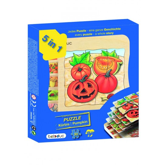Beleduc - Puzzle 5 couches - Courge