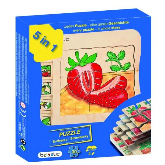 Beleduc - Puzzle 5 couches - Fraises