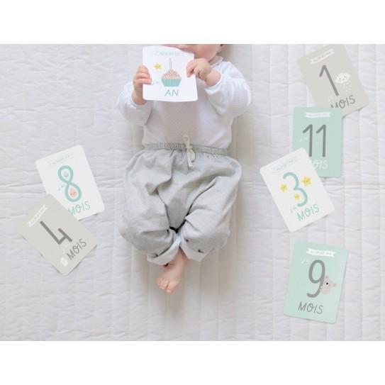 Zü - Kit premiers mois de bébé - Lot de 12 cartes