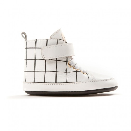 Pretty Brave - Hi-top - White grid
