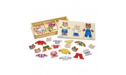 Melissa & Doug - Puzzle de vêtement ours