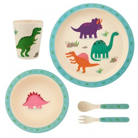 Ensemble vaisselle bambou - Dino