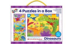 Boîte de 4 puzzles - Dinosaures