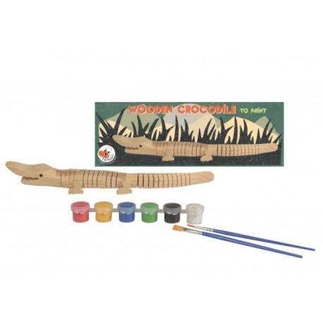 Egmont toys - Crocodile en bois à peindre