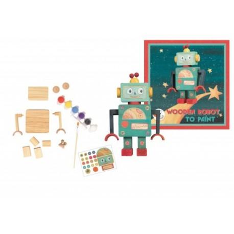 Egmont toys - Robot en bois à peindre