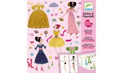 Djeco - Stickers & paper doll