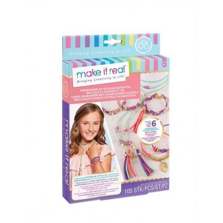 Make it real - Bracelets suédine et or